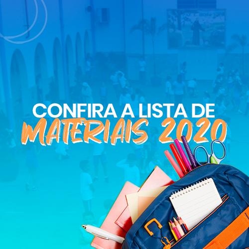 Lista de Materiais 2020