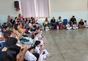 Graduação dos alunos na Capoeira